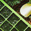 Zielone kostki lodu