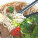 Wegetariańska zupa Pho