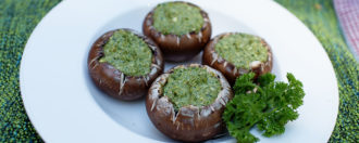 Gefüllte Pilze vegan